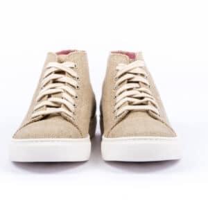 High Scouts Ruwe hennep hoge sneakers voorkant