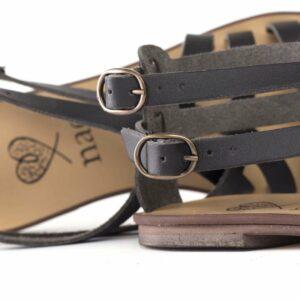 NAE ITACA sandalen Zwart binnenzool bovenkant