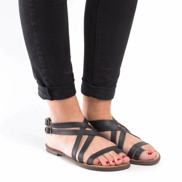 NAE ITACA Sandalen Zwart Stijlimpressie