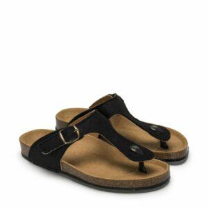 NAE KOS REBOTTLED sandalen zwart