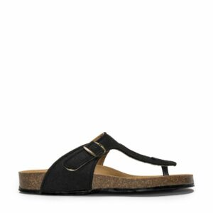 NAE KOS REBOTTLED sandalen zwart zijkant