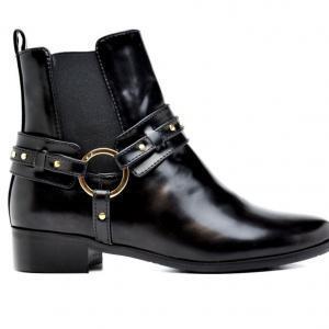 NAE Laarzen Neus Zwart zijkant