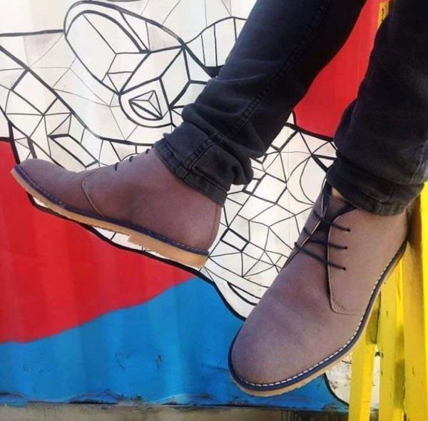 NAE Lagos Grey suede look 5
