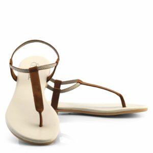 NOAH DIANA sandalen voorkant bruin
