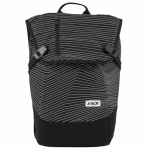 Aevor Fineline Black vegan backpack 1