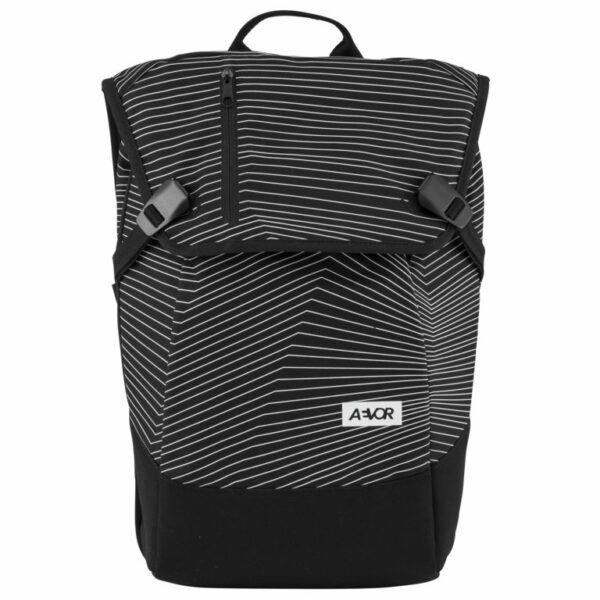 Aevor Fineline Black Vegan Backpack 1