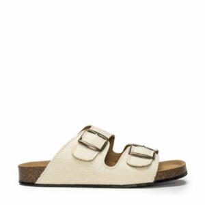 NAE DARCO sandelen wit pinatex binnenkant