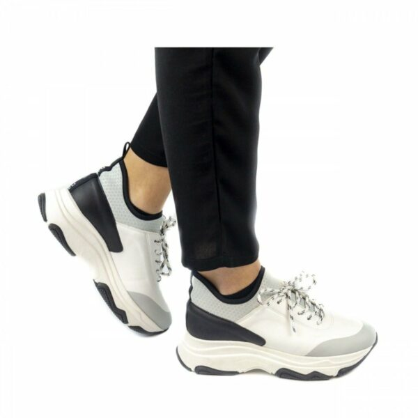NAE Edda Sneakers Zwart Grijs Ugly Sneaker Trend 2