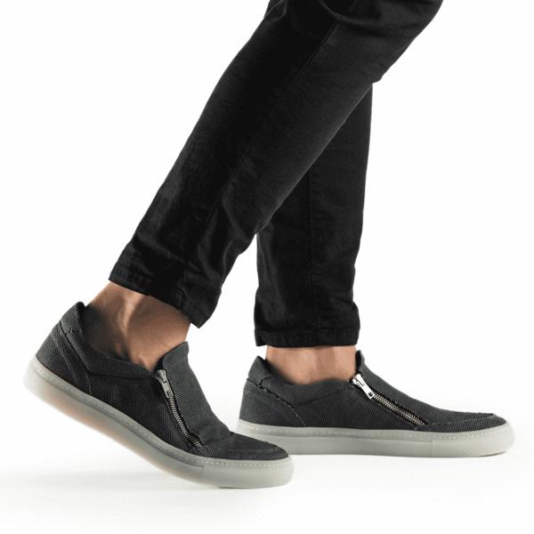 NAE Efe Cotton Sneaker Met Rits Vegan Heren 2