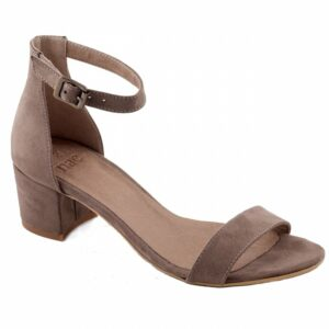 NAE Irene sandaal met hak bruin