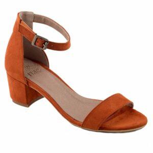 NAE Irene sandaal met hak oranje