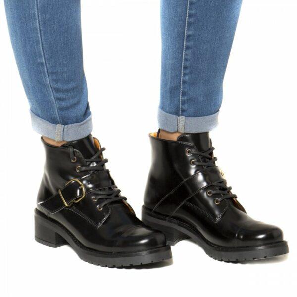 NAE Luce Boots Met Hak Zwart 4