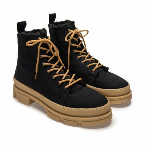 NAE MAXI Bananatex Black Boots