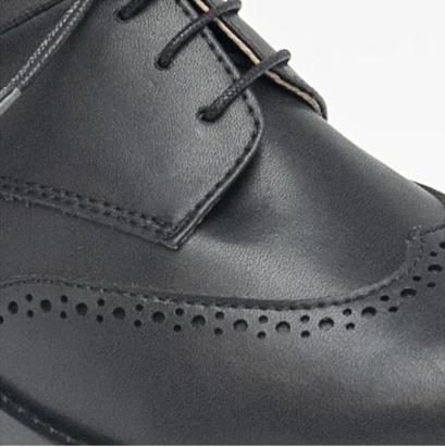 NAE Simone Derby Schoen Zwart Detail