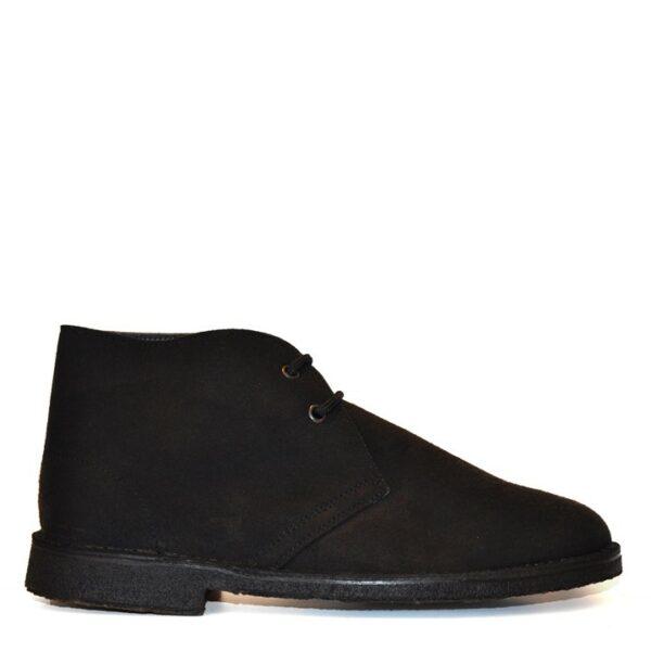 Noah Vegan Shoes Marco Marica Suede Black Unisex Boots