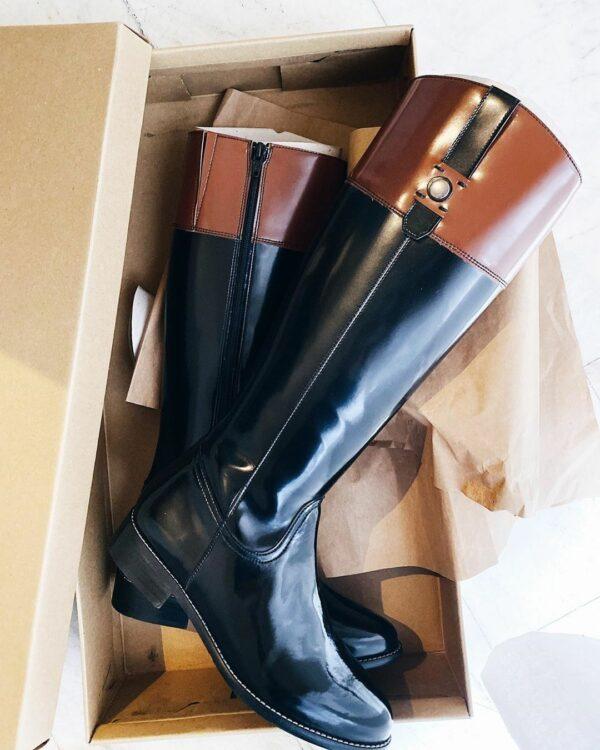 WIlls Vegan Shoes Riding Boots Rijlaarzen Zwart Bruin 1 1