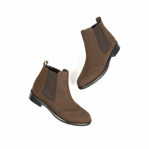 Wills Vegan Shoes Brogue Booties 1