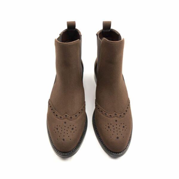 Wills Vegan Shoes Brogue Booties 3