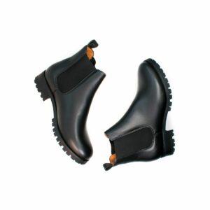Wills Vegan Shoes Luxe Deep Tread Chelsea Boots 1
