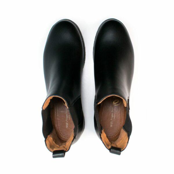 Wills Vegan Shoes Luxe Deep Tread Chelsea Boots 3