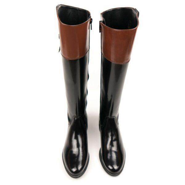 Wills Vegan Shoes Ridingboots Rijlaarzen Zwart Bruin 3