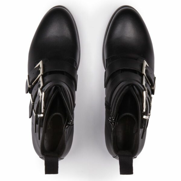 Wills Vegan Shoes 4 Strap Biker Boots 2