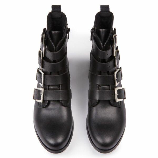 Wills Vegan Shoes 4 Strap Biker Boots 3