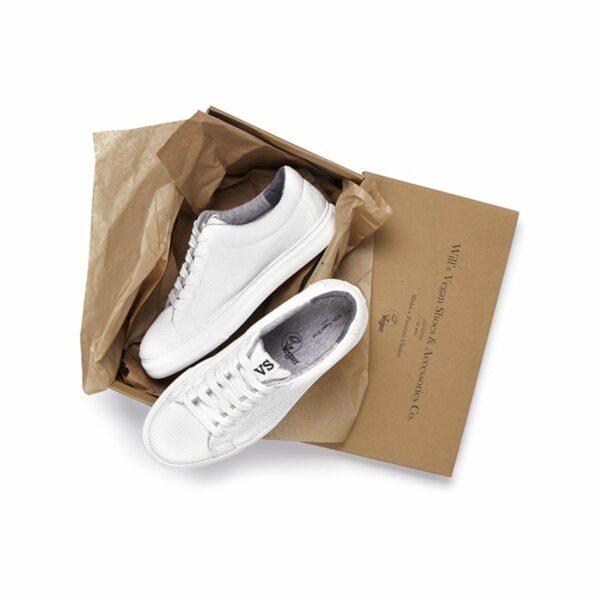 Wills Vegan Shoes LDN Biodegradable Sneaker Wit Unisex 3
