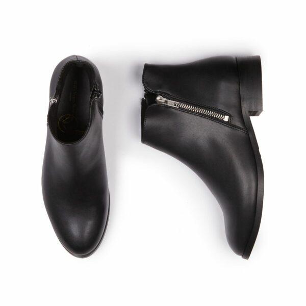 Wills Vegan Shoes Low Ankle Booties Dames Zwart 1