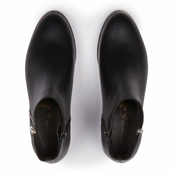 Wills Vegan Shoes Low Ankle Booties Dames Zwart 2