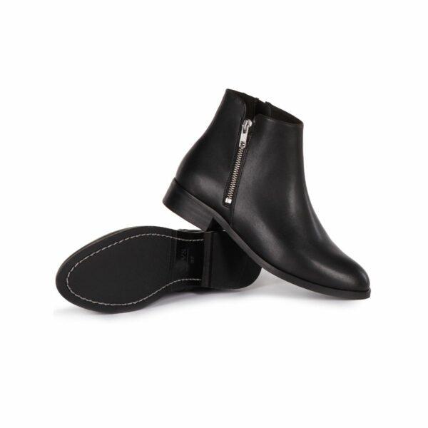 Wills Vegan Shoes Low Ankle Booties Dames Zwart 4