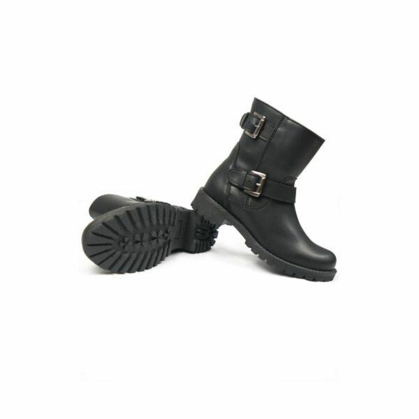 Wills Vegan Shoes Black Biker Boots 2