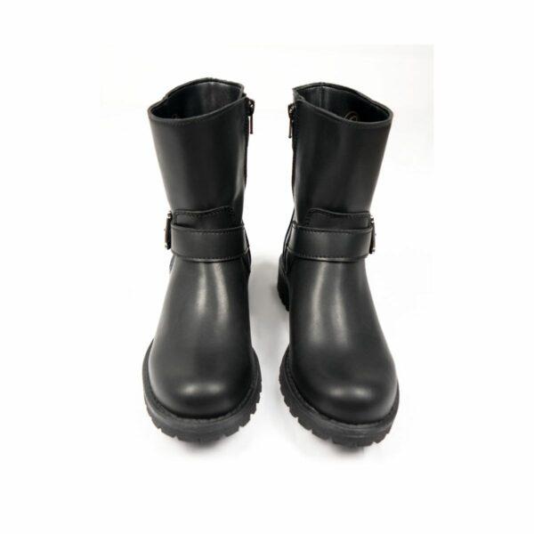 Wills Vegan Shoes Black Biker Boots 3