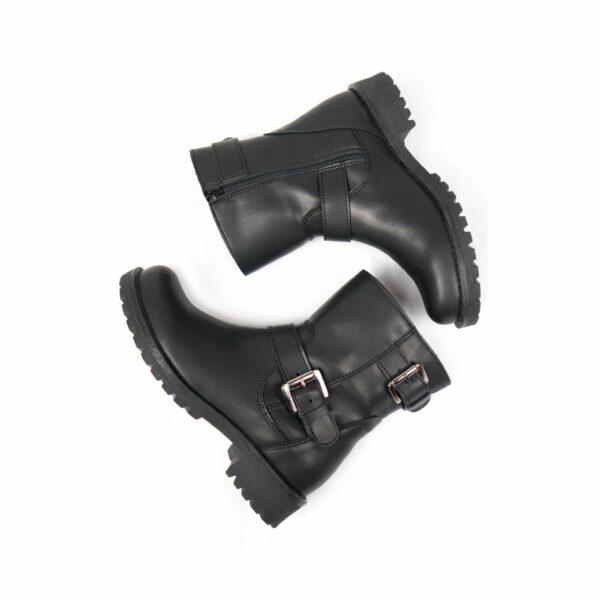 Wills Vegan Shoes Black Biker Boots 4