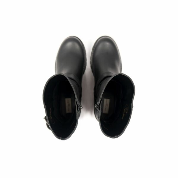 Wills Vegan Shoes Black Biker Boots 5