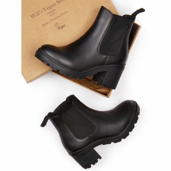 Wills Vegan Shoes Dames Track Sole Booties 1