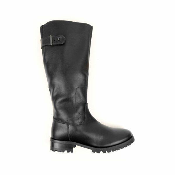 Wills Vegan Shoes Deep Tread Knee Length Boots Zwart 1