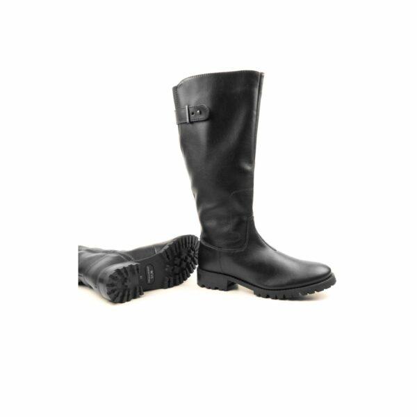 Wills Vegan Shoes Deep Tread Knee Length Boots Zwart 2