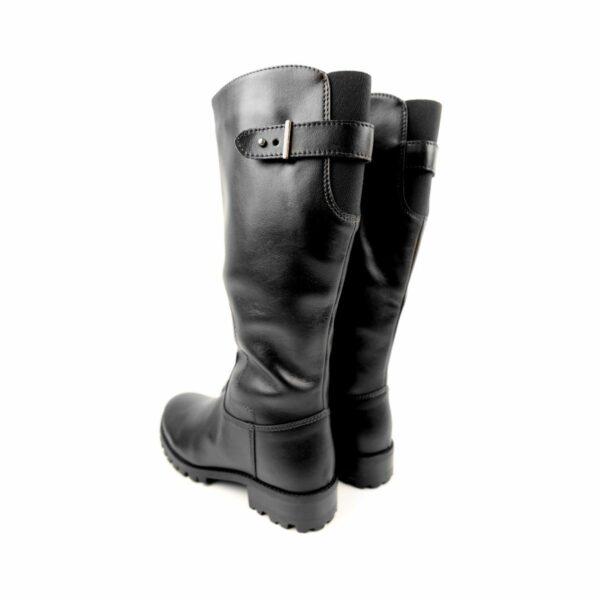 Wills Vegan Shoes Deep Tread Knee Length Boots Zwart 4