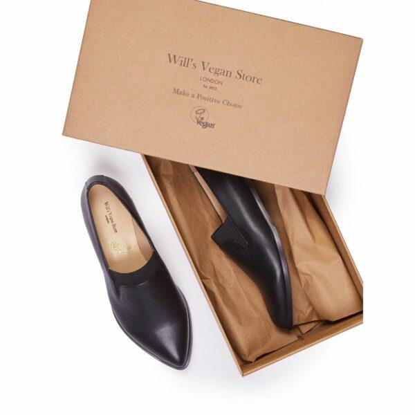 Wills Vegan Shoes The Derby Dames Zwart 1
