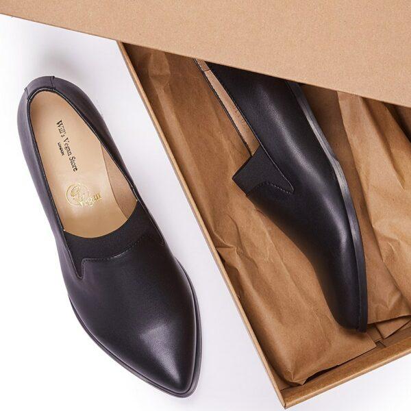 Wills Vegan Shoes The Derby Dames Zwart 2