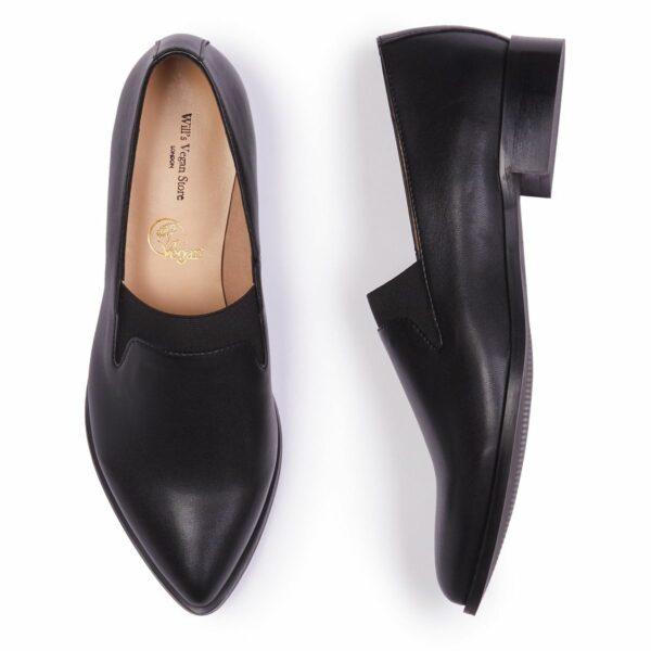 Wills Vegan Shoes The Derby Dames Zwart 3