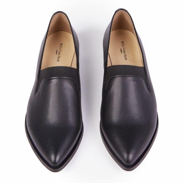 Wills Vegan Shoes The Derby Dames Zwart 4