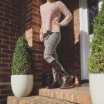 Wills Vegan Shoes Deep Tread Knee Length Boots Zwart 3