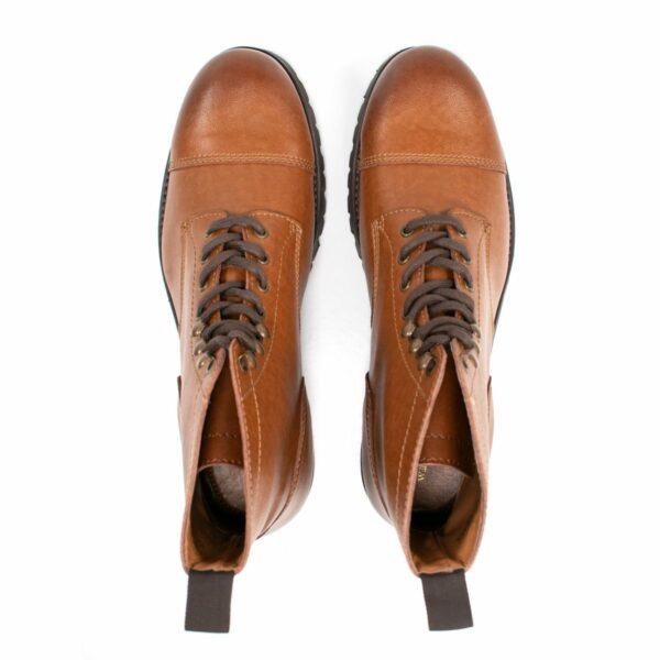 Wills Vegan Shoes Work Boots Tan Dames 2