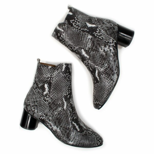 Wills Vegan Shpes Snake Print Boots Slangeprint 1